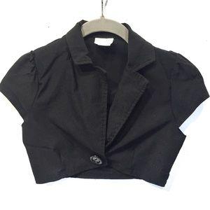 Vintage K.Scion Cropped Cap Sleeve 1-Button Jacket